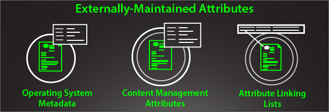 externally-maintained attributes operating system metadata content management attributes attribute linking lists