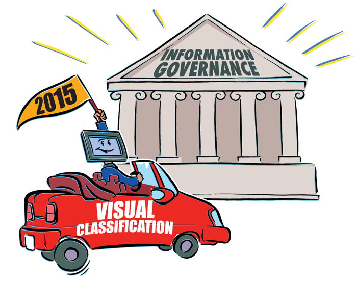 Visual classification achieves document-centric information governance