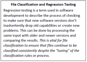File Classification and Regression Testing